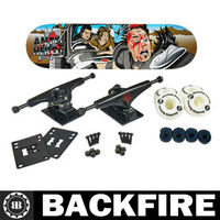 "Backfire HERO MAD MAX SERIES WASTELAND TRUJILLO (8.18"") SKATEBOARD - COMPLETE"