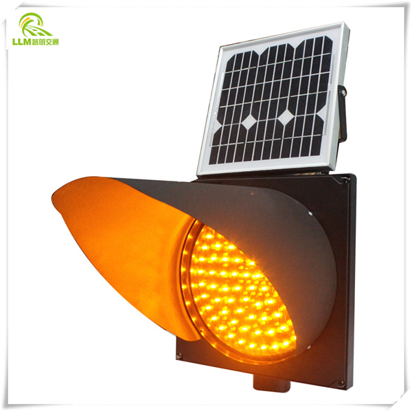 High quality yellow flashing module solar traffic signal light solar warning traffic light