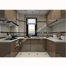 Custom new model home furniture ready to assemble aluminium kitchen cabinet