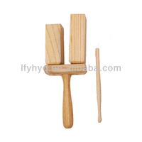 Small musical instrument percussion wooden agogo tone block