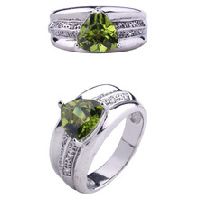 new model ring gemstone jewellery in Sterling Silver Rhodium plating