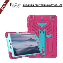 2017 new product pc tpu bumper screen protector case for ipad air 2 leather flip combo armor hard corner protective case