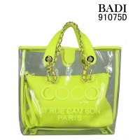 customized bags/logo/slogan print jelly handbags