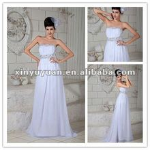 Sexy Backless Real Strapless Chiffon Fashional Dresses Evening Night Gown XYY04-195