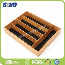Bamboo Eco-friendly 3 Cabinet Canvas Drawer Organizer
