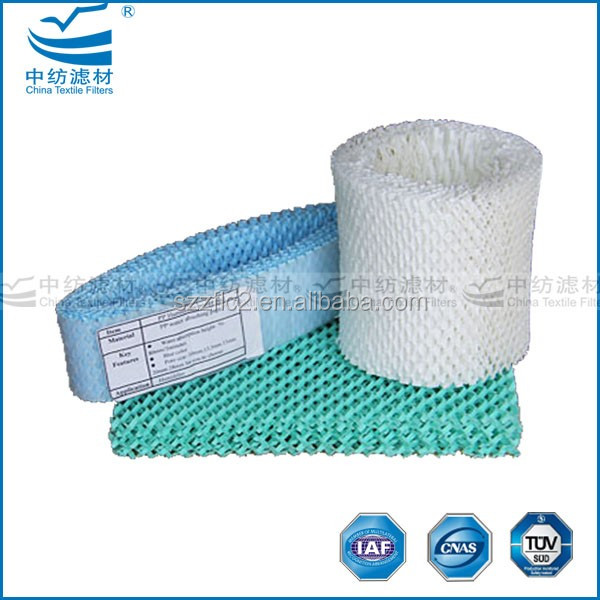 Factory supply PP water absorbing material by cross bonding technology humidifier pads,cooling pads