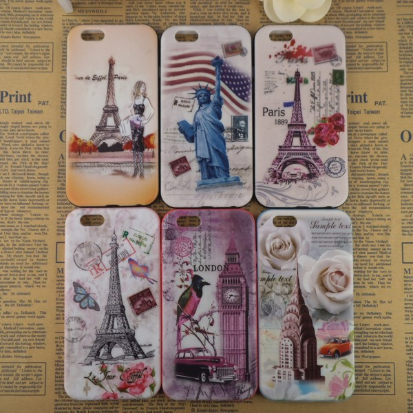 Multiple choice relievo cell phone plastic cover for i phone 6 4.7 5.5 beautiful cell phone back cover wholesale