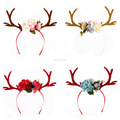 Fashion Hot Little Plum Moose Christmas Antlers Ear Headband DIY Fawn headband