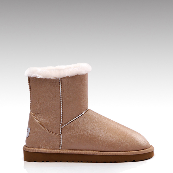 HC-192 Faux fur lining good quality molded EVA outsole winter flat ankle fashion boots for women