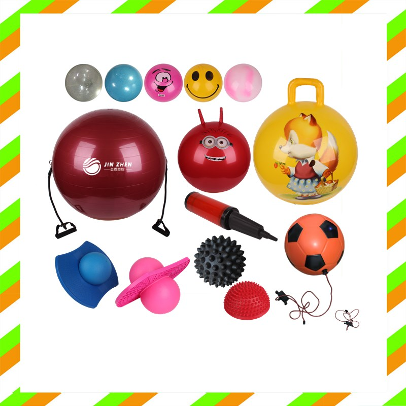 kids toy handle jumping ball with logo printing