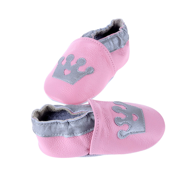 9 Years Factory Cute Cartoons Embroidery Toddler Crib Shoes Baby Leather Shoe