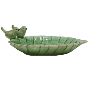 Decorative Small Resin Leaf Bird Bath