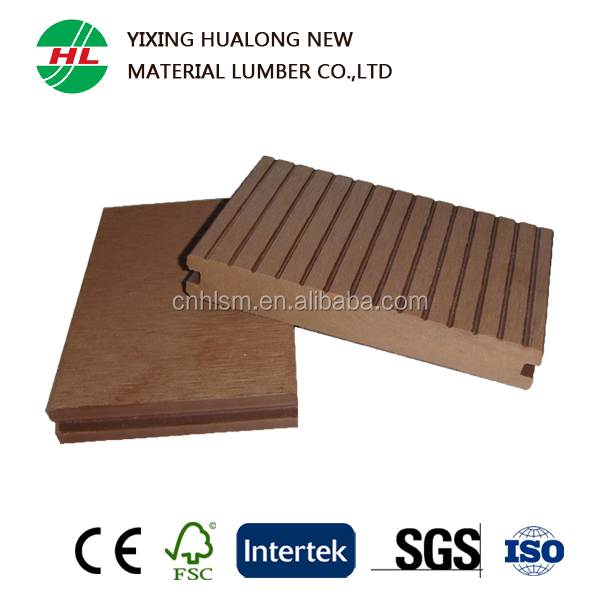 Solid Wood Plastic Composite Outdoor Flooring WPC Decking Boards