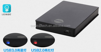 screwless 2.5-inch usb 3.0 sata external hard drive HDD enclosure