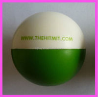 White and Green PU foam anti stress ball