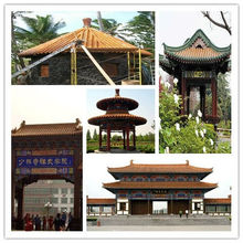 Glazed tiles Chinese Tea house roof tiles pitched roof chinese temple roof design
