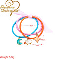 3 in 1 candy color elastic strings hair tie,cartoon alloy characters hair accessories