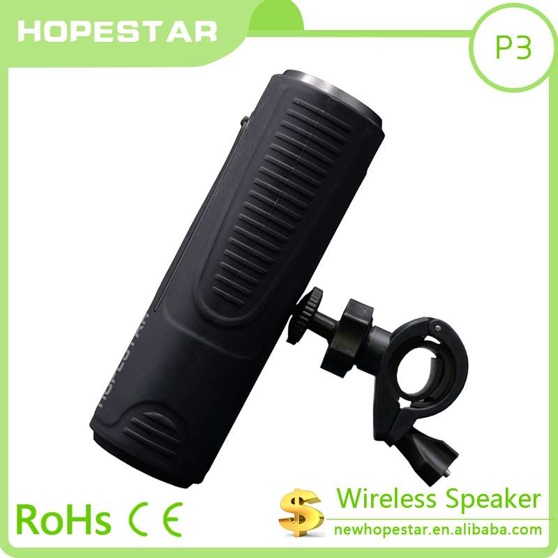 2017 bluetooth speaker Mini Portable with flashlight waterproof bluetooth speaker for hold on bicycle sport use speaker