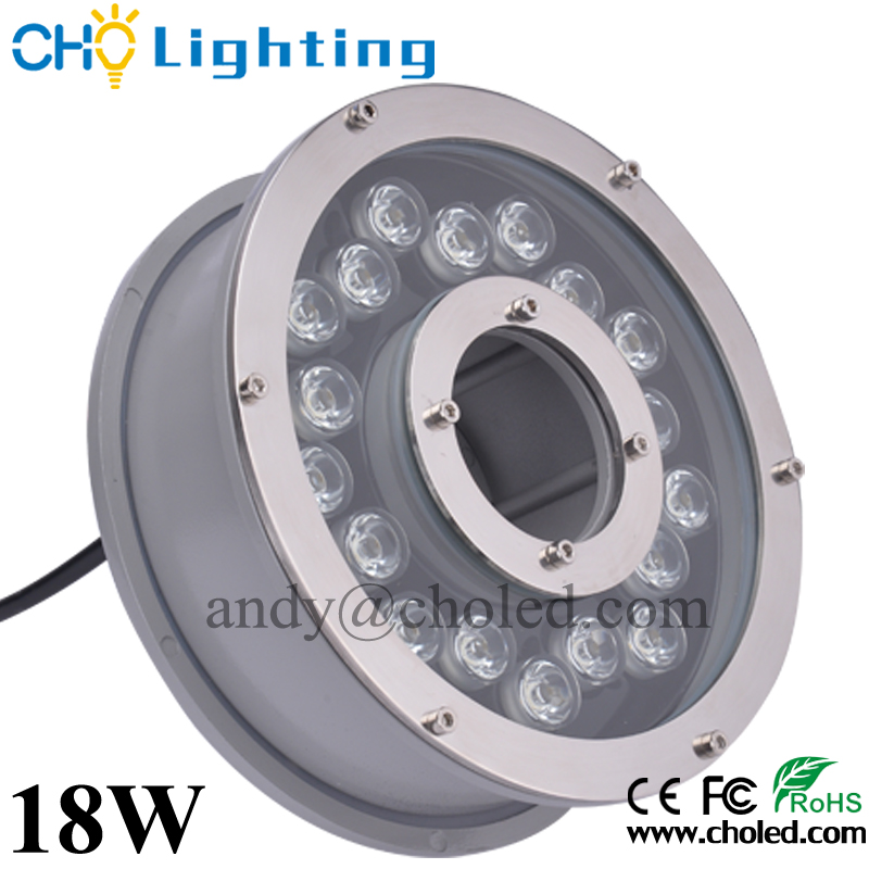 DC12-24V 6W 9W 12W 18W pool fountain led underwater light made in foshan