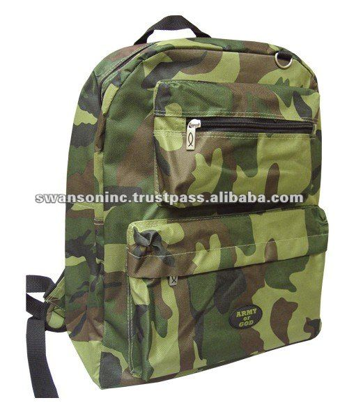 Green Color High Quality PVC Army Backpacks