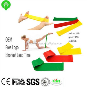 2018 gym stretch heavy duty elastic custom resistance exercise band ankle loops latex fitness set resistance band