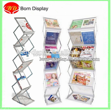 Customszie Strong Aluminim Frame A3 A4 Size Acrylic Material Makeup Organiser for Trade Show