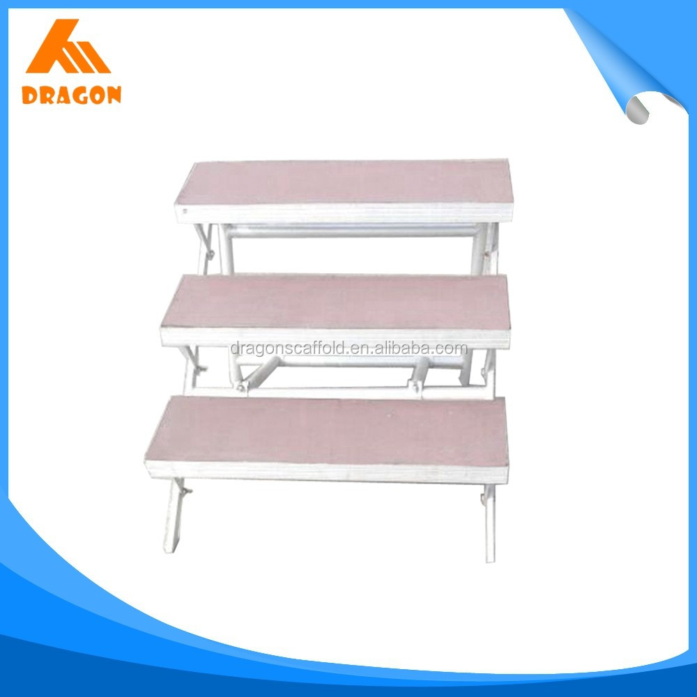 Professional retractable gym bleachers seating