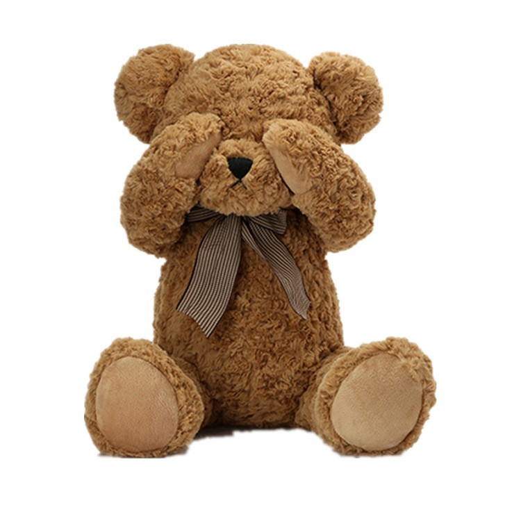 Custom super soft <strong>plush</strong> animal toy lovey teddy bear for kids