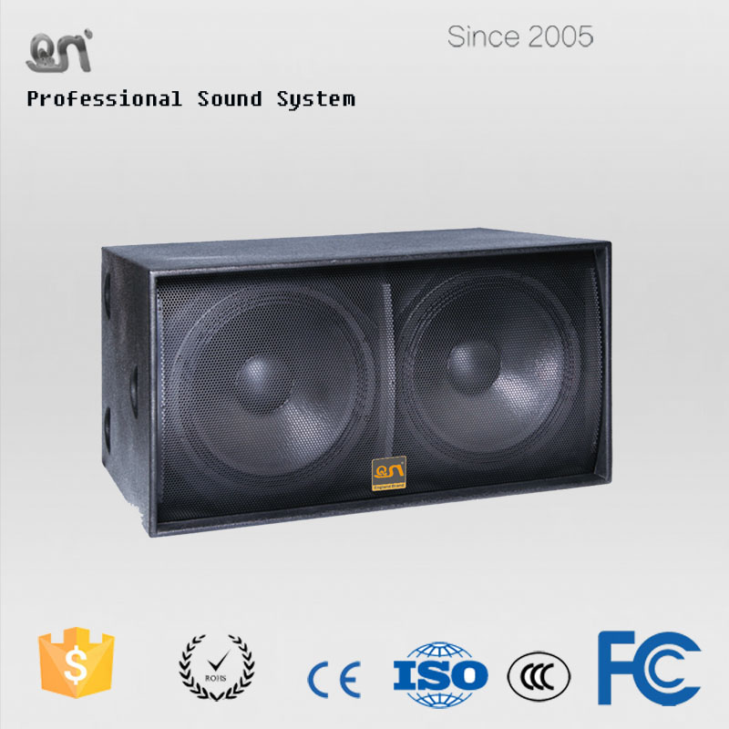 Cheap 1200W p audio speakers dual 18 inch subwoofer