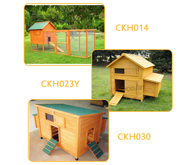 China suppliers wooden chicken coop chicken cages with pull-out tray and large run