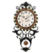 Big size decoration modern mosaic design pendulum wall clock