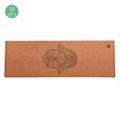 High quality fitness nature printed wooden custom design cork yoga mat
