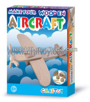 Art & Craft diy kit toy deisgn you own Wooden aircraft