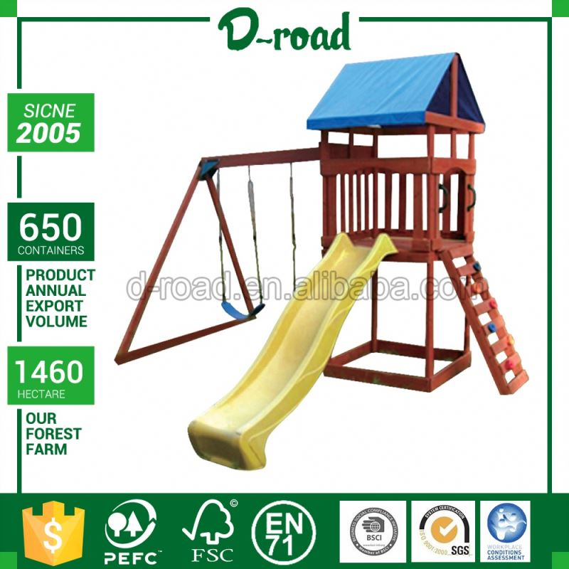 Premium Quality 2016 Latest Design Outdoor Wooden Playsets For Toddlers