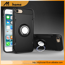 Wholesale Creative ring armor cover mobile phone case with stand for iphone7