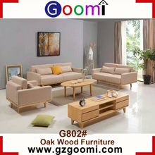 Goomi Scandinavian Furniture Living Room Sofa Set Modern G802# New Model Solid Wooden Sofa Sets Pictures