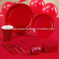 Red Party Supplies partyware Pack Including Plates, Cups, and Napkins