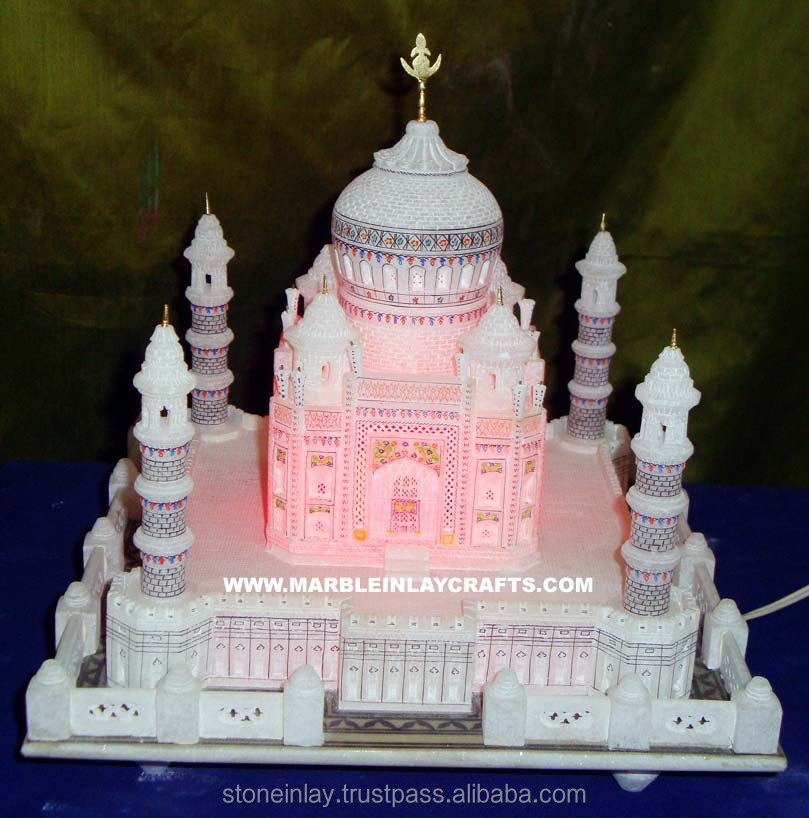 Colorful Marble Taj Mahal Replica