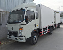 FRP / GRP fiberglass truck body / Refrigerated cargo box/van truck body for fish
