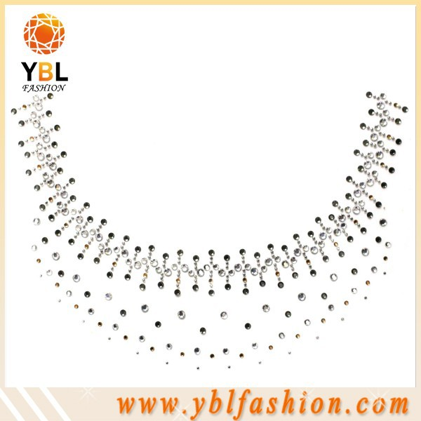 bulk sale neckline design rhinestone designs for clothing