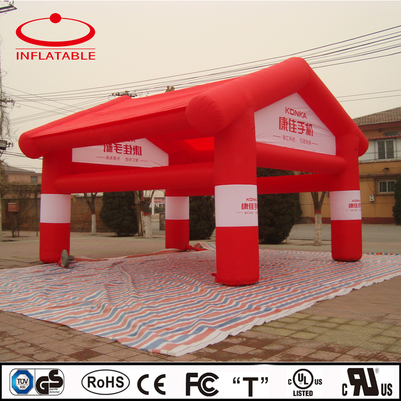 Custom red color inflatable promotion tent/advertising inflatable outdoor event tent