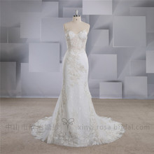 Wholesale Beach Spaghetti Strap See Through Bride Wedding Dress