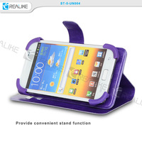 "2015 New design universal mobile phone flip cover ,universal leather case , 5"" inch leather case"