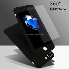 Luxury for IPhone 7 Case 360 Degree Full Body PC Cover Cases for iPhone 6 Plus for Samsung Galaxy S8 with Tempered Glass