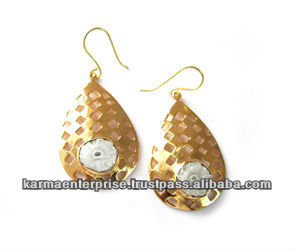 2014 popular gold jhumka earrings