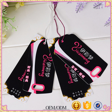 customized paper hang tag/clothing swing tag labels/garment bag printed tags brand paperboard hang tag matte or gloss lamination