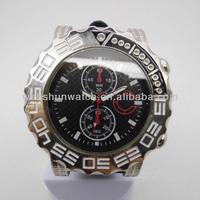 Modern big size case japan movt quartz wrist watch