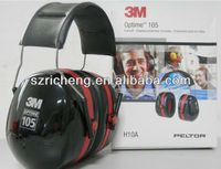 3M Peltor Optime 105 Over-the-Head Earmuff, 3M Hearing Protection Ear Muff H10A