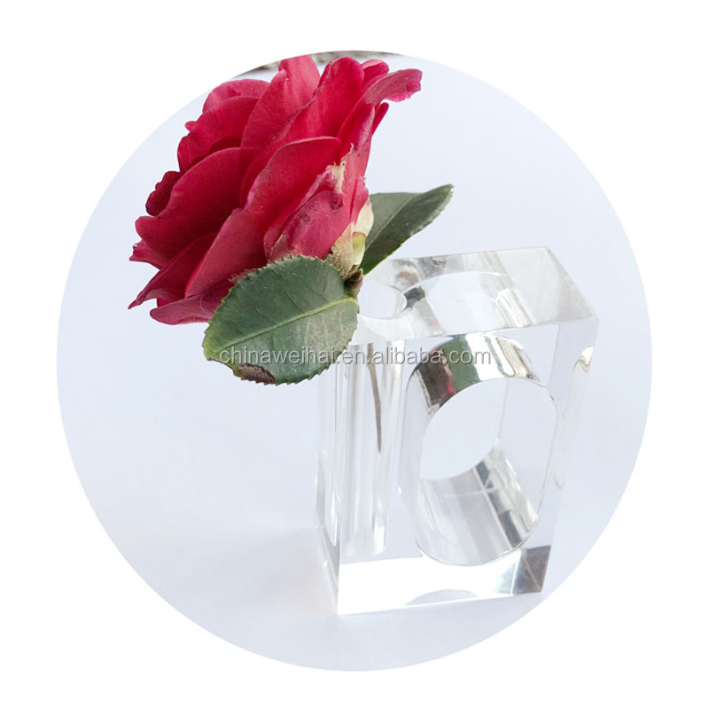 2019 acrylic flower napkin ring table napkin ring