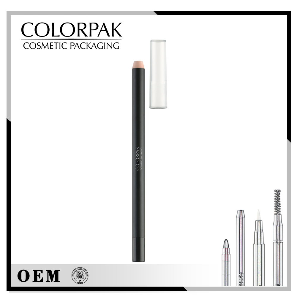 Slim sharpenable barrel similar to wooden pencil airtight lip liner package